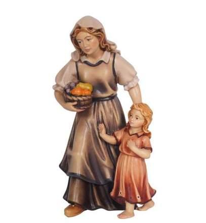 donna-con-bambina-presepio-e-kostner-8-cm-naturale-non-verniciato