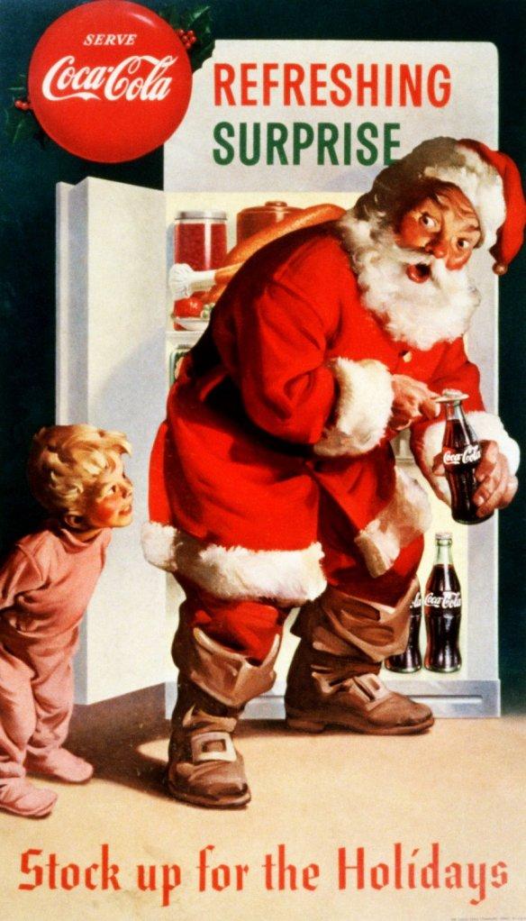 Babbo Natale Coca Cola bimbi