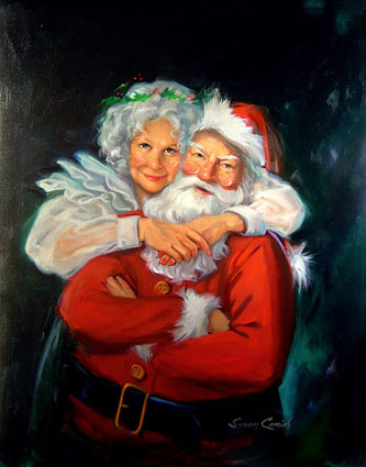 Mr and Mrs Claus - Susan Comish
