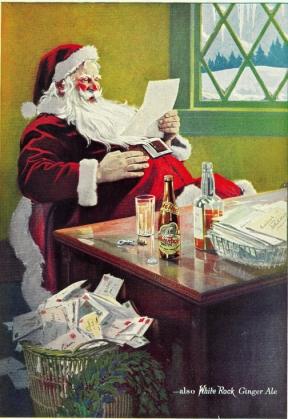 Babbo Natale sponsorizza il ginger ale della White Rock (1923)