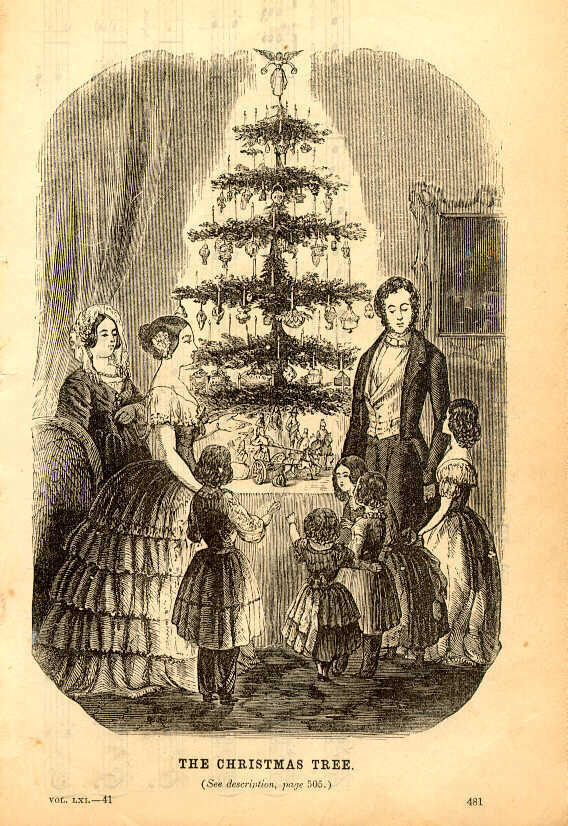 The Christmas Tree - Godey's Lady's Book 1850