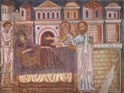 """Un Costantino ancor più a pois viene consigliato in sonno: """"prova con il Papa"""", gli suggeriscono Pietro e Paolo apostoli"""