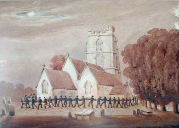 """""""At  St. Lawrence, Rode"""" dipinto di W. W. Wheatley (ca. 1885)"""