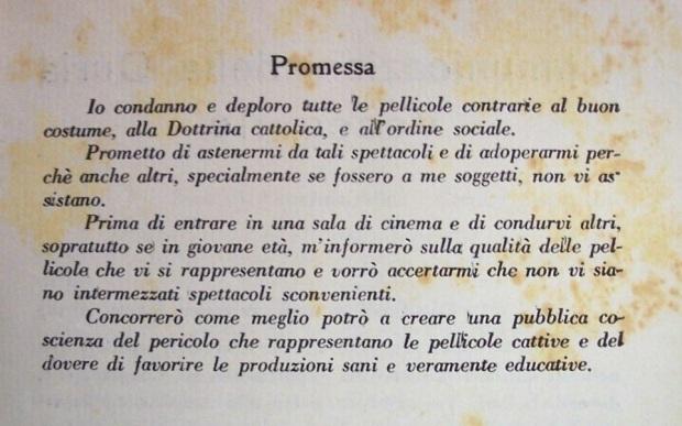 Promessa cinematografo