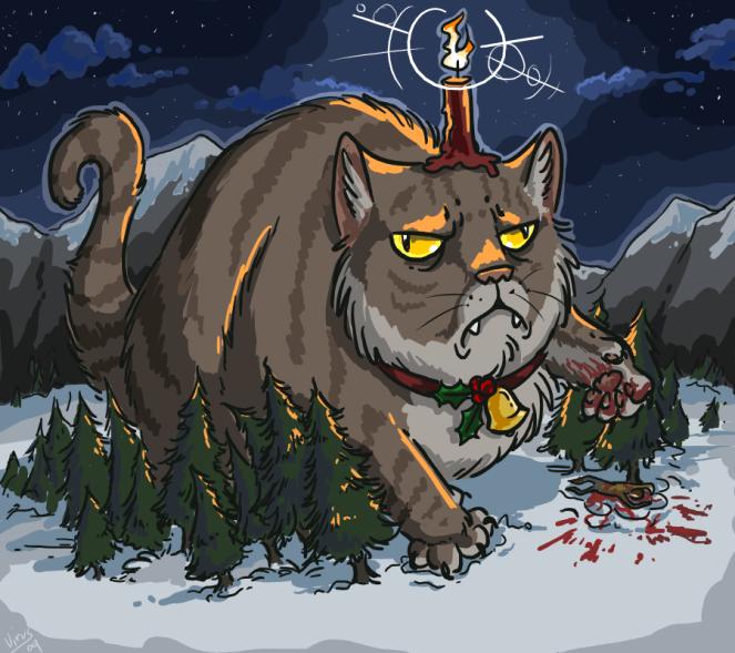 """""""Yule Cat"""" di Quizzical-Squidopus su DeviantArt"""