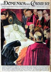 """Ancora sulla copertina della """"Domenica del Corriere"""", anche da morto."""