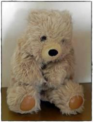 14 giugno 2014, giorno 13 dei miei #100happydays: ricevere in custodia il vecchio Pelìs, l'orso che mio padre aveva regalato a mia mamma quand'erano sposati da poco.