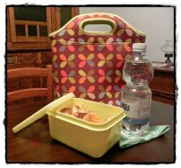 """29 giugno 2014, giorno 28 dei miei #100happydays.  C'è una gioia tutta speciale nel prepararsi il """"lunchbox"""" da portare al lavoro. Vuol dire che un lavoro c'è: e scusatemi se è poco!"""