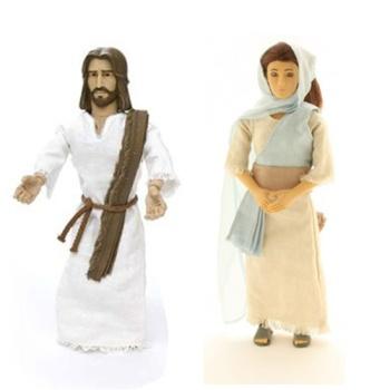 """Bambole parlanti Gesù e Maria, per la serie """"Messenger of Faith"""" - click sull'immagine per accedere alla pagina prodotto"""
