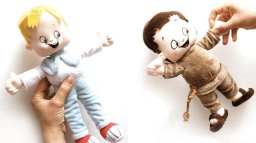 """Bambole """"Piuccio e Lolek"""" - click sull'immagine per accedere al sito del progetto, con numerose risorse educative scaricabili gratuitamente"""