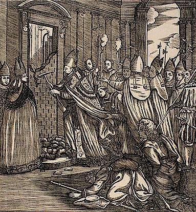 Apertura della Porta Santa nell'anno giubilare 1725