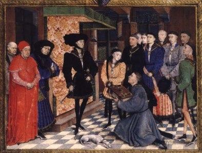 Filippo il Buono nel suo abito nero di ordinanza