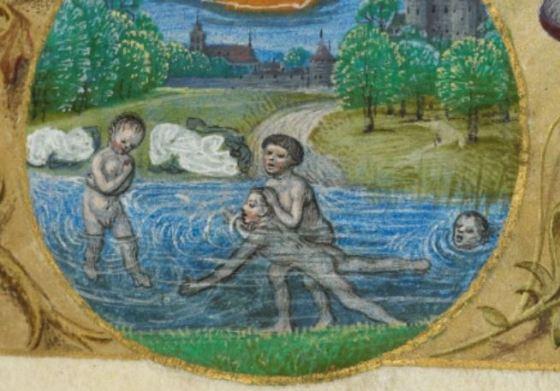 Una scena così - dipinta in un libro delle ore tardoquattrocentesco - non l'avremmo vista più, di lì a pochi anni.