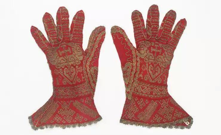 Guanti di maglia Uso Liturgico '200