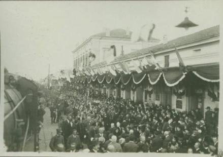 Milite Ignoto Ferrara Folla in stazione