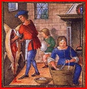 macellazione del maiale medioevo
